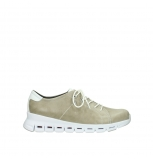 wolky sneakers 02051 mega 30381 sand white leather