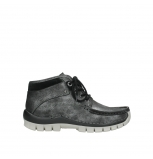 wolky lace up boots 04728 cross winter 81280 metal grey leather