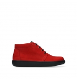 wolky lace up boots 08100 kansas lady xw 11505 dark red nubuck