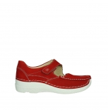 wolky mary janes 06247 roll fever 11570 red nubuck
