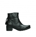 wolky ankle boots 07504 macau 20000 black leather