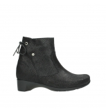 wolky ankle boots 07822 beryl 71000 black leather