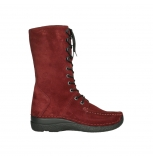wolky mid calf boots 06210 roll fashion 40540 winter red oiled suede