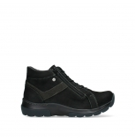 wolky lace up boots 03032 lounge 11001 black nubuck