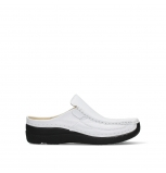 wolky clogs 06202 roll slide 70100 white printed leather