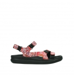 wolky sandalen 00710 energy lady 42500 red mosaic suede