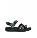 wolky sandalen 00720 action lady 42000 black mosaic suede