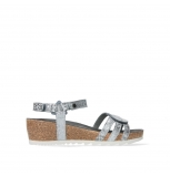 wolky sandalen 08235 pacific 99130 silver snake print leather