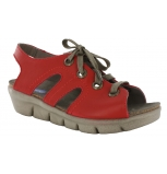 wolky sandals u 00653 alula 30500 red leather