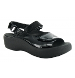 wolky sandals u 03204 jewel 20000 black leather