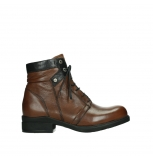 wolky ankle boots 02625 center 20430 cognac leather