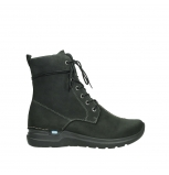 wolky lace up boots 06607 walla walla cw 11000 black nubuck