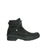 wolky lace up boots 07645 latky 13000 black nubuckleather