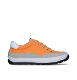 wolky lace up shoes 01425 babati 94550 orange canvas suede