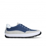 wolky lace up shoes 01425 babati 94800 blue canvas suede