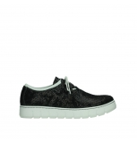 wolky lace up shoes 02327 vic summer 47217 anthracite summer printed suede