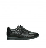 wolky lace up shoes 02525 yell 36000 shiny black leather