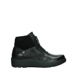 wolky lace up boots 03252 daydream 24000 black leather