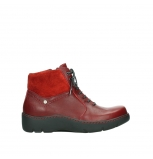 wolky lace up boots 03252 daydream 24505 dark red leather