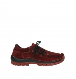 wolky lace up shoes 04737 side winter 40540 winter red oiled suede