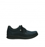 wolky lace up shoes 05901 one 10875 blue winter stretch nubuck
