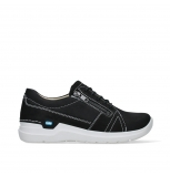 wolky lace up shoes 06609 feltwell 11070 black nubuck leather