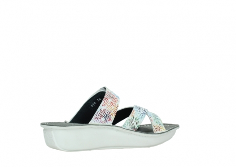 wolky slippers 00878 barbados 70980 white multi color canal leather_11