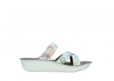 wolky slippers 00878 barbados 70980 white multi color canal leather_13