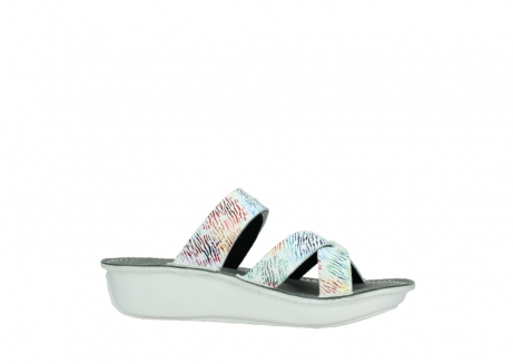 wolky slippers 00878 barbados 70980 white multi color canal leather_14