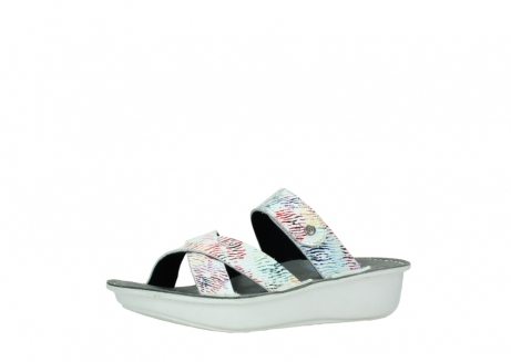 wolky slippers 00878 barbados 70980 white multi color canal leather_23