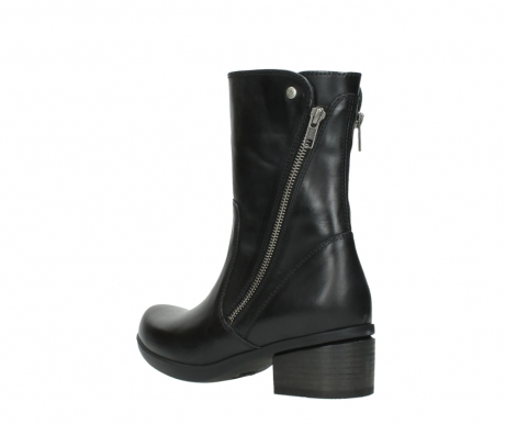 wolky mid calf boots 01376 rialto 30002 black leather_4