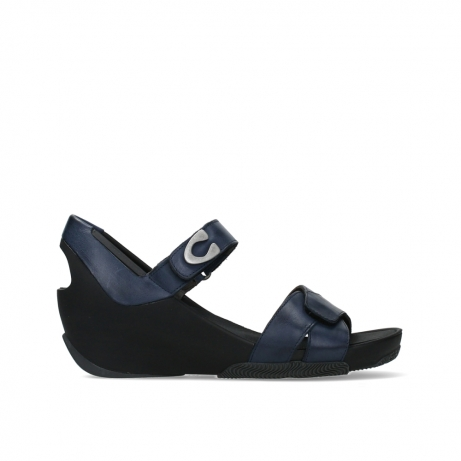 wolky sandalen 03775 epoch 20800 blue leather