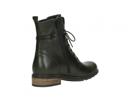 wolky mid calf boots 04438 murray cw 20730 forest green leather cold winter warm lining_10
