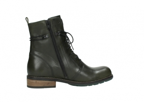 wolky mid calf boots 04438 murray cw 20730 forest green leather cold winter warm lining_12
