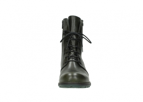 wolky mid calf boots 04438 murray cw 20730 forest green leather cold winter warm lining_19