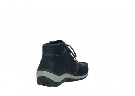 wolky lace up boots 04826 sensation 11802 blue oiled nubuck_9