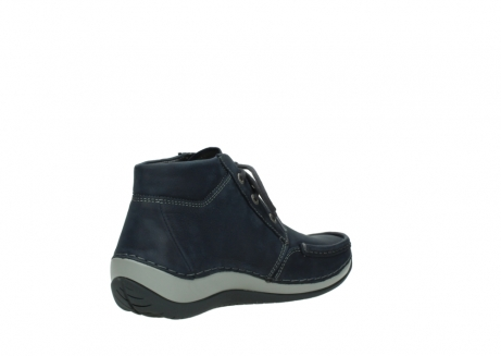 wolky lace up boots 04826 sensation 11802 blue oiled nubuck_10