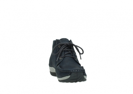 wolky lace up boots 04826 sensation 11802 blue oiled nubuck_18