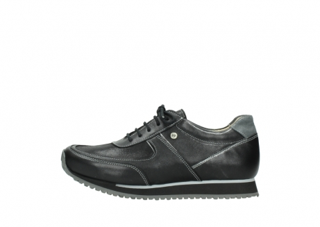 wolky lace up shoes 05803 e sneaker 20009 black stretch leather_1