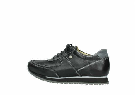 wolky lace up shoes 05803 e sneaker 20009 black stretch leather_2