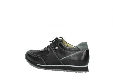 wolky lace up shoes 05803 e sneaker 20009 black stretch leather_3