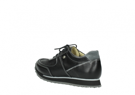 wolky lace up shoes 05803 e sneaker 20009 black stretch leather_4