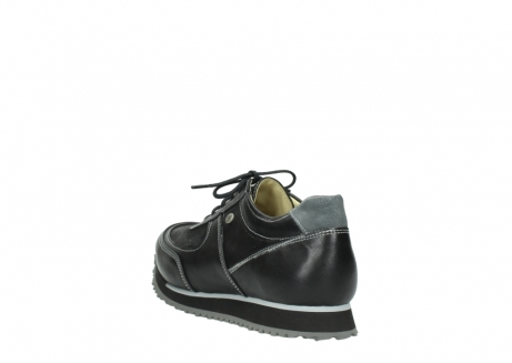 wolky lace up shoes 05803 e sneaker 20009 black stretch leather_5