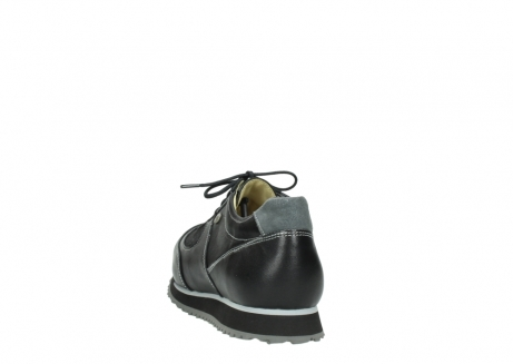 wolky lace up shoes 05803 e sneaker 20009 black stretch leather_6