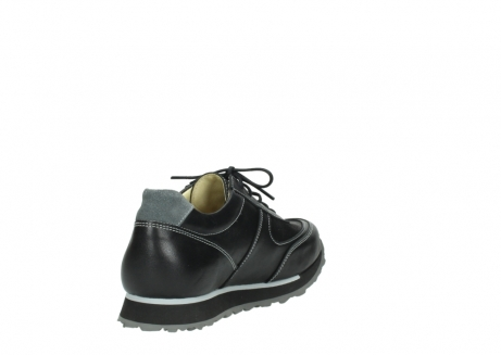 wolky lace up shoes 05803 e sneaker 20009 black stretch leather_9