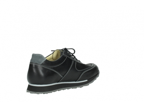 wolky lace up shoes 05803 e sneaker 20009 black stretch leather_10
