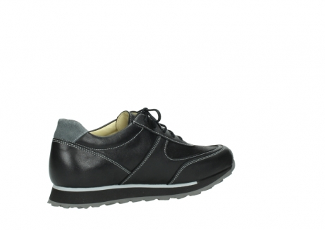 wolky lace up shoes 05803 e sneaker 20009 black stretch leather_11