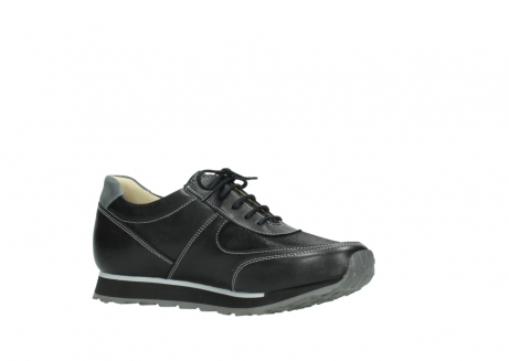 wolky lace up shoes 05803 e sneaker 20009 black stretch leather_15