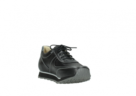 wolky lace up shoes 05803 e sneaker 20009 black stretch leather_17