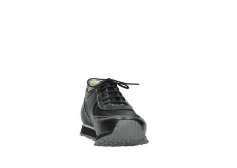 wolky lace up shoes 05803 e sneaker 20009 black stretch leather_18